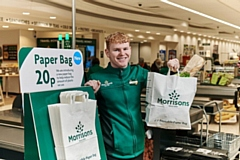 The paper bags have been trialled in eight Morrisons stores since January