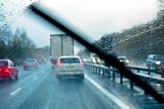 Spray and flooding on roads could make journey times longer
