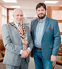 Mayor Mohammed Zaman with Revilo Group Chief Executive Lee Collins