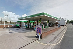 Londis store at the BP garage, on Oldham Road, Middleton