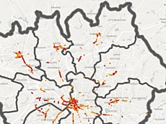 Roads that are some of the worst affected by air pollution - specifically nitrogen dioxide