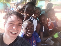 John Dawson with some of the children at King Jesus Orphanage and School