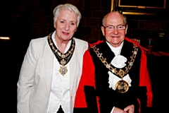 Councillor Billy Sheerin and his wife Lynn Sheerin, Mayor and Mayoress of Rochdale 2019 - 2020
