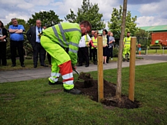 A tree was planted in memory of Fusilier Lee Rigby and the 22 killed during the Manchester Arena bombing