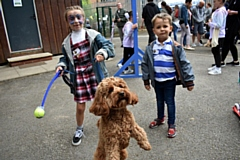 Madeleine Street and her pet dog, Luna, finish as runners-up in the dog show