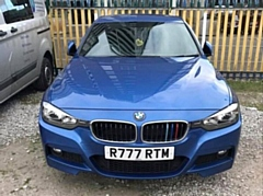 This blue BMW was stolen on Wednesday morning