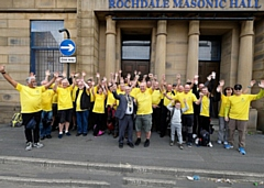 50 walkers from Rochdale, Todmorden and Bacup Masonic Lodges walked a 23-mile circular route around the district