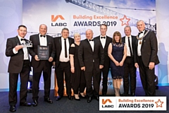 H Bell & Sons Rochdale with their LABC award