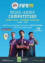 The first eSports event in Rochdale town centre will take place on the FA Cup final weekend