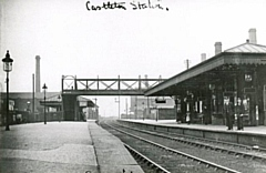 A historical shot of Castleton station, in Lancashire and Yorkshire Railway days, looking east about 1900