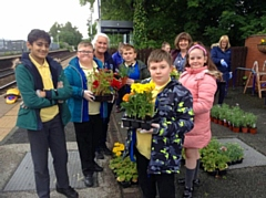 The planters at Castleton Railway Station are on the right track for success