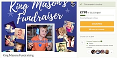 A fundraiser has been launched for Mason Scott