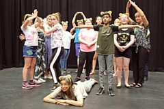 Shobna Gulati at the M6 Theatre Company in Rochdale which is funded by BBC Children in Need