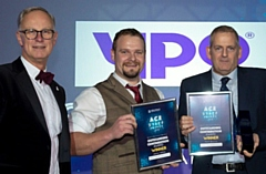 The 2018 outstanding achievement award was won by gardeners Jamie White and Mark Bourne, pictured with Steve Rumbelow, Chief Executive of Rochdale Borough Council. Residents can nominate council individuals or teams for the 2019 Ace Awards.