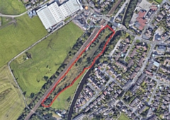 The former railway sidings (marked in red) would be ideal for a new rail car park, says Richard Greenwood