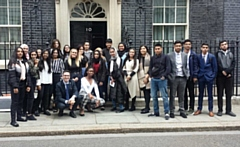 Kingsway Park Year 10 students at No.10 Downing Street