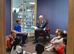 Mayor Billy Sheerin attended Rochdale's first ever Children's Literature Festival at Number One Riverside