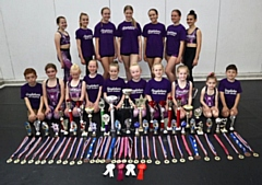 Top row: Beatrice Sutton, Ella Hargreeves, Alana Percy, Olivia Bickerstaffe, Emily Crooks, Emily Butterworth, Tiffany