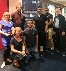 The premiere screening of Crossing the Line at Rochdale's Odeon Cinema last week.