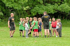 The taster day at Littleborough Rugby Club
