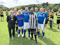 Mayor Billy Sheerin was invited to Littleborough Rugby Club for a Walking Football Charity Tournament