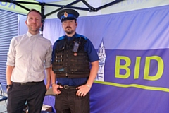 Paul Ambrose, BID Manager, and PCSO Nick McNeill