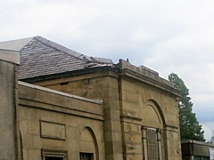 Damage was caused to the façade roof of the grade-II listed Falinge Hall