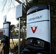 Rapid chargers by InstaVolt for electric car