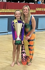 Lyla and Fiona Briddon at the Manchester freestyle dance competition