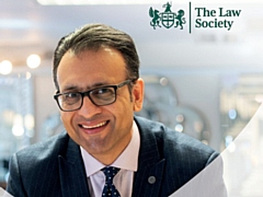 Asad Shamim, a senior board adviser of Manchester-based firm JMR Solicitors, features in the Law Society's brand campaign