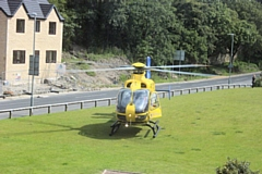 The motorcyclist was airlifted to Royal Preston Hospital