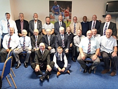 Many of the Rochdale Hornets Ex-Players Association who were in attendance