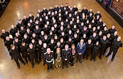 New GMP recruits at their attestation ceremony