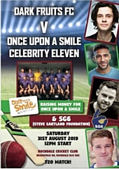 T20 celebrity cricket match at Rochdale Cricket Club on Saturday 31 August