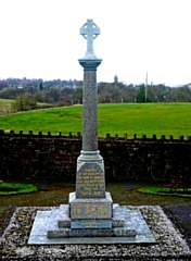Wardle War Memorial displays a WW2 plaque on the front