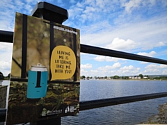Can poster in place at Hollingworth Lake