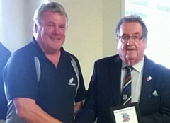 Ex-player Mike Nolan (left) with chairman Peter Rush