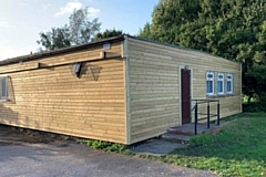 St Luke�s scout and guide hut in Heywood