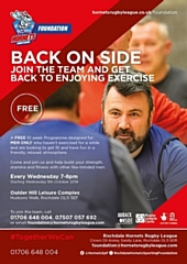 Back Onside - the free men�s fitness programme run by Rochdale Hornets Sporting Foundation