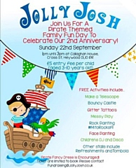 Jolly Josh is celebrating its 2nd anniversary on Sunday 22 September with a pirate-themed family fun day