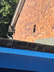 The air vent where thieves gained entry to Wardleworth Community Centre