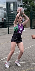 Netball player Laura Whitworth from Haslingden High School