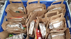 Some of the packed lunches made by Green Door and distributed in Wardle, Littleborough and Kirkholt