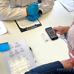 Staff at Trelleborg Rochdale have been trialling a Covid-19 saliva test