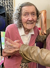 Sylvia Corfield celebrated her 108th birthday on 21 November