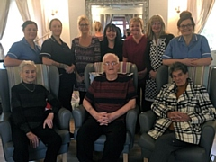 Residents and staff at Stansfield Hall Care Home, Littleborough