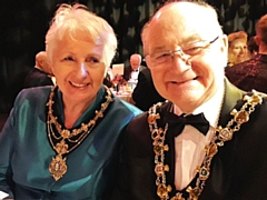 Mayor and Mayoress, Billy and Lynn Sheerin, pictured at an event in 2019