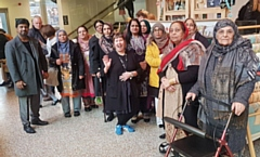 15 women from the Centre of Wellbeing, Training and Culture Wellbeing Caf� visited the Manchester Museum