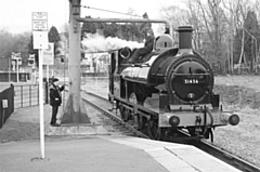 The 1881 built steam locomotive number 752 temporarily numbered 51456 at Heywood station on a running-in trip February 2020
