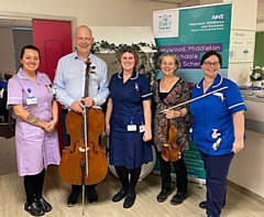 Patients and visitors to the Oasis Unit were treated to a private recital by members of the award winning Hallé Orchestra